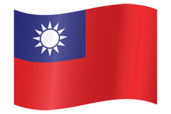 Taiwan flag icon country flags for Taiwan flag coloring page