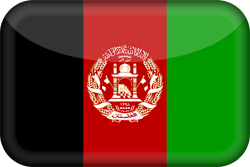 Flag of Afghanistan - 3D