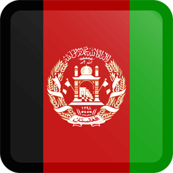 Flag of Afghanistan - Button Square
