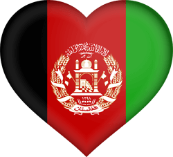 Flag of Afghanistan - Heart 3D