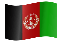 Flag of Afghanistan - Waving