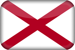 Flag of Alabama - 3D