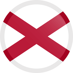 Flag of Alabama - Button Round