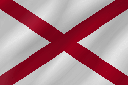Flag of Alabama - Wave