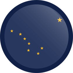 Flag of Alaska - Button Round