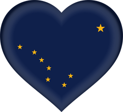 Flag of Alaska - Heart 3D