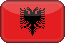 Flagge Albaniens Icon - Gratis Download