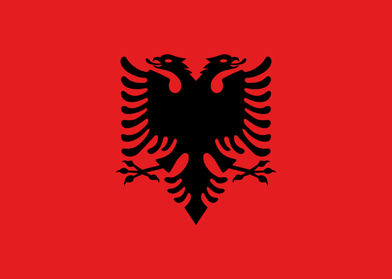 Albania flag package