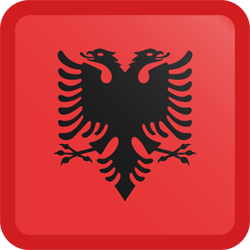 Albanië vlag vector - gratis downloaden