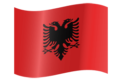 Flag of Albania - Waving