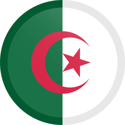 Flag of Algeria - Button Round