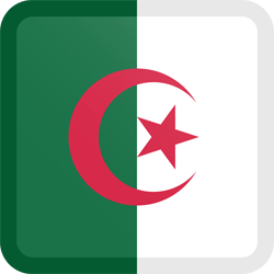 Flag of Algeria - Button Square