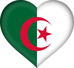 Flag of Algeria - Heart 3D