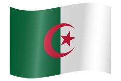Flag of Algeria - Waving