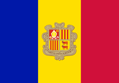 Flagge von Andorra Vektor - Gratis Download