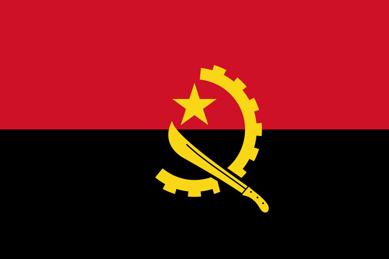 Angola flag package