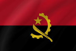 Drapeau de l'Angola - Vague