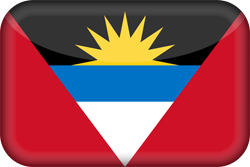 Flag of Antigua and Barbuda - 3D