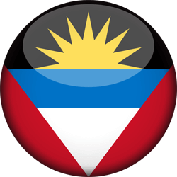 Flag of Antigua and Barbuda - 3D Round