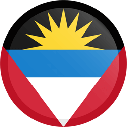 Flag of Antigua and Barbuda - Button Round