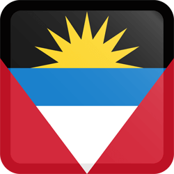 Flag of Antigua and Barbuda - Button Square