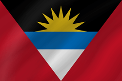 vlag van Antigua en Barbuda - Golf