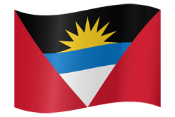 Flag of Antigua and Barbuda - Waving