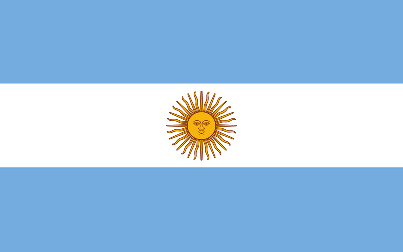 Argentina flag package