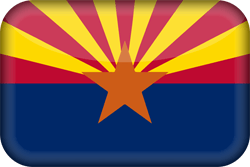 drapeau de l'Arizona - 3D
