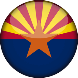 Flag of Arizona - 3D Round