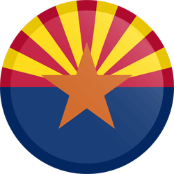 Flag of Arizona - Button Round