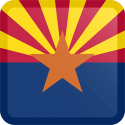 Flag of Arizona - Button Square