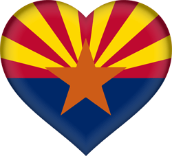 Flag of Arizona - Heart 3D