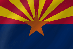 Flagge von Arizona - Welle