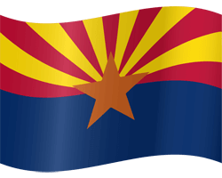 Flag of Arizona - Waving