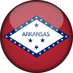Flag of Arkansas - 3D Round