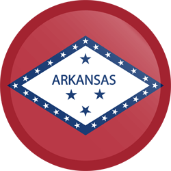 Flag of Arkansas - Button Round