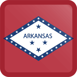 Flag of Arkansas - Button Square