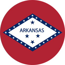 Flag of Arkansas - Round
