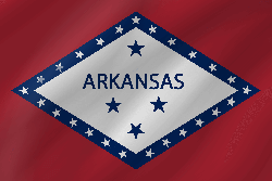 Flagge von Arkansas - Welle