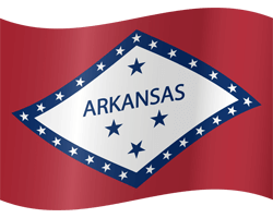 Flag of Arkansas - Waving