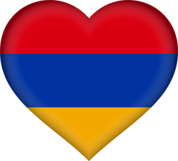 Flag of Armenia - Heart 3D