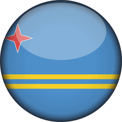 Flag of Aruba - 3D Round