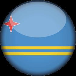 Vlag van Aruba - 3D Rond