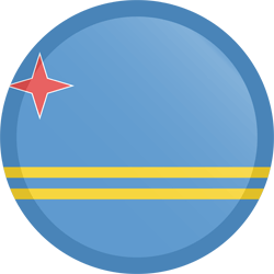 Flag of Aruba - Button Round