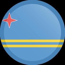 Vlag van Aruba - Knop Rond