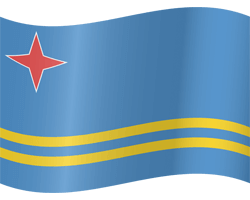 Flag of Aruba - Waving