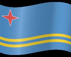 Vlag van Aruba - Golvend