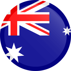 Flag of Australia - Button Round