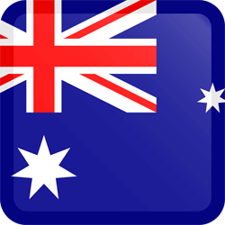 Flag of Australia - Button Square
